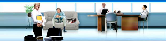 Офисная мебель эконом класса. Офисные столы и мягкая мебель в офис.